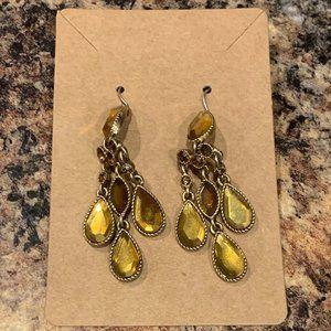 "💥4/$10💥 Golden Yellow Dangle Earrings 2"""
